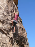 Rock Climbing Photo: Joe Kreidel having just pulled through the crux.