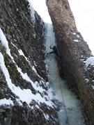 Rock Climbing Photo: Steve Berwanger working his way up Under Wraps.