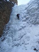 Rock Climbing Photo: Steve Berwanger soloing BBH. 2-10-2010.