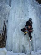 Rock Climbing Photo: Steve Berwanger starting up a fat Get Whacked. 2-1...