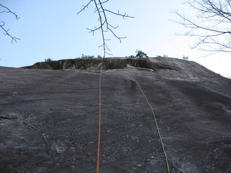 Photo showing my rappel ropes which are over the line I roughly took