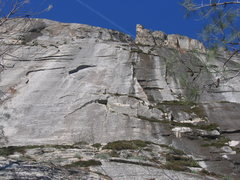 Rock Climbing Photo: Dangling Chads with the obvious, shaded, crux, 2nd...