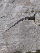 Rock Climbing Photo: The original 5.8 start takes the finger crack thro...