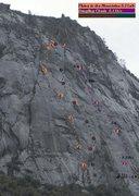 Rock Climbing Photo: Three great longish routes