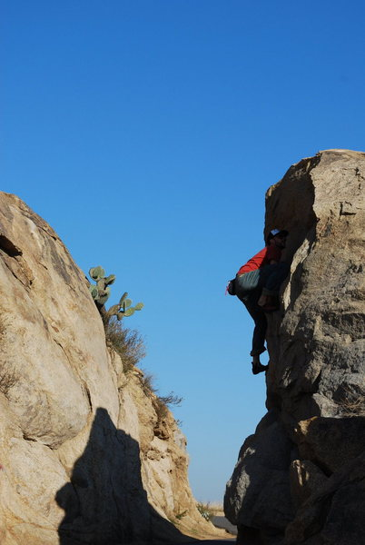 Rock Climbing Photo: Eric Odenthal on the boulder off the main road
