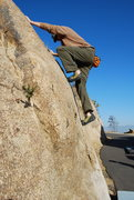 Rock Climbing Photo: Bill topping out...