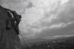 Rock Climbing Photo: Nathan Fitzhugh. 2-20-10