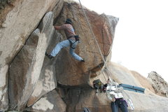 Rock Climbing Photo: Nathan on The Entertainer 5.9.     2-20-10
