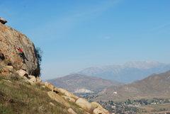 Rock Climbing Photo: Eric Odenthal climbing on Joe Browns Helmet