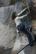 Rock Climbing Photo: Agina the other varation of The Entertainer 5.9.  ...