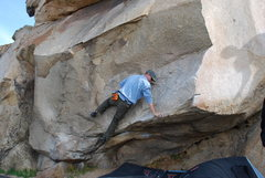 Rock Climbing Photo: Bill working on the Beach Problem