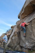 Rock Climbing Photo: Eric Odenthal on the Beach Problem