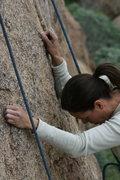 Rock Climbing Photo: Agina across from the Black Block.  2-20-10