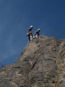 Rock Climbing Photo: Chad & Shanay on top of her very first climb outsi...