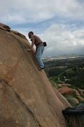 Rock Climbing Photo: Nathan on a climb near the trail up on the North s...