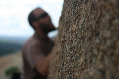 Rock Climbing Photo: A blurry Nathan with some detail of the rock. 2-21...