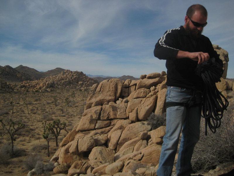 my climbing partner Nate