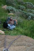 Rock Climbing Photo: Nathan on belay.  2-21-10