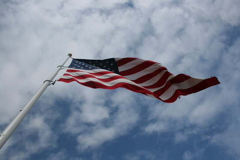 The Flag on top on a breezy day.  2-21-10