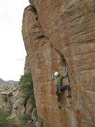 Rock Climbing Photo: Jesse crushing 'Red Dwarf' 5.12 trad