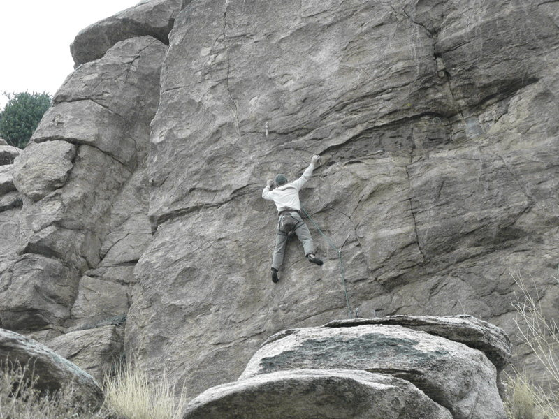 Rock Climbing Photo: EFR getting the coveted second ascent.