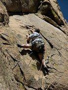 Rock Climbing Photo: Stu entering 2nd pitch crux