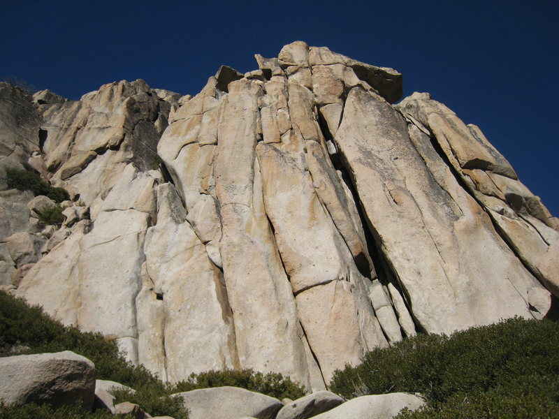 Rock Climbing Photo: Sun Wall Right is the large chimney start (...on t...