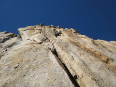 Rock Climbing Photo: An excellent base-of-the-crag view of Sun Wall's M...