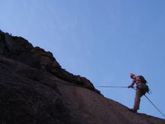 Rock Climbing Photo: ben rapping out @ the end of the day.