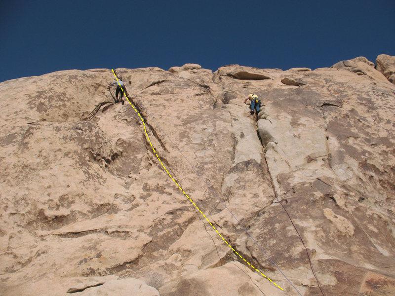 Rock Climbing Photo: Mastering (5.2) on Outward Bound Slab