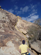 Rock Climbing Photo: Look Mom No Name.  Not the best photo, but the yel...
