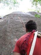 Rock Climbing Photo: The starting finger cracks