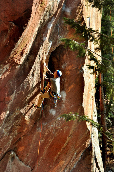 "Rock Climbing Photo: Joe making ""Surf's Up"" look easy"