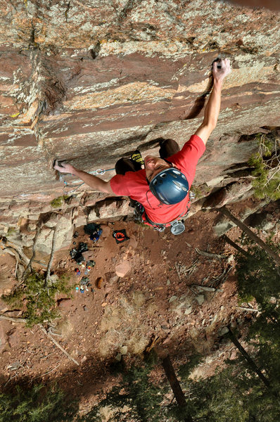 Rock Climbing Photo: Eldorado Canyon, Iron Horse Adam Brink