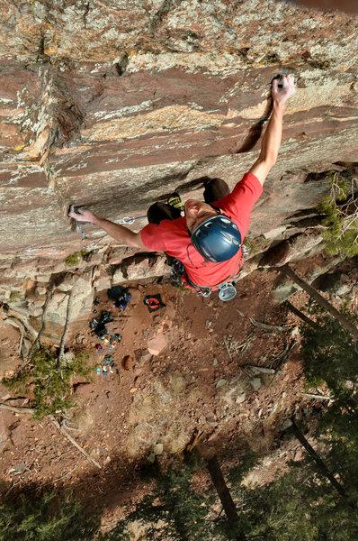 Rock Climbing Photo: Eldorado Canyon, Iron Horse Adam Brink