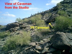 Rock Climbing Photo: View of Caveman from The Studio