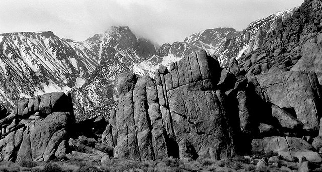 Mt. Langley from Alabama Hills.<br> Photo by Blitzo.
