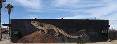 Rock Climbing Photo: Desert Iguana Mural. Photo by Blitzo.