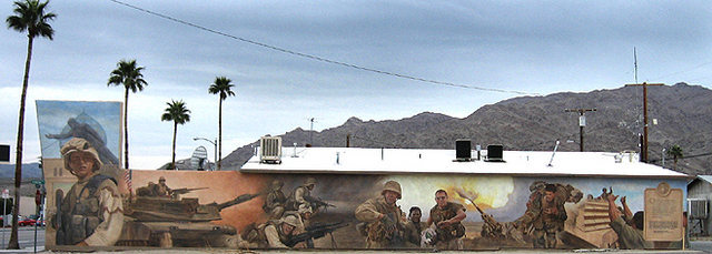 Marines Mural.<br> Photo by Blitzo.<br>