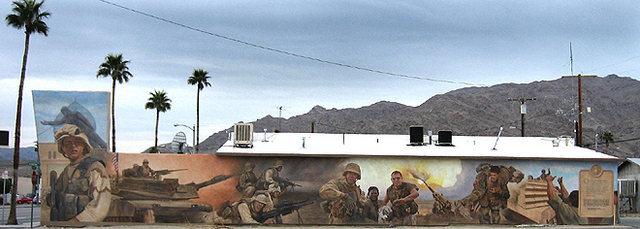Rock Climbing Photo: Marines Mural. Photo by Blitzo.