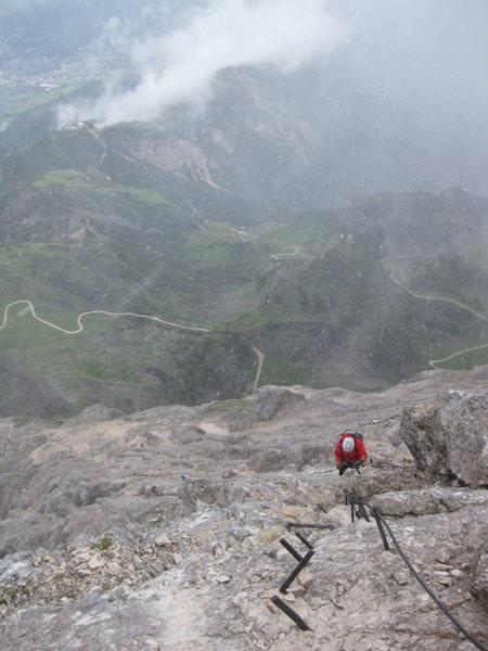 Alpspitze Klettersteig on really fun day