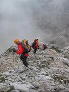 Rock Climbing Photo: Down the backside