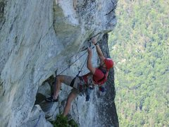 Don Garner getting ready for the crux.