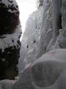 Rock Climbing Photo: Unknown on Pick o' the Vic (I think) from under th...