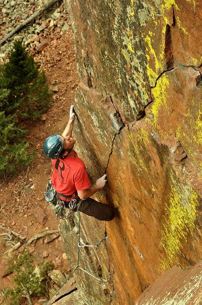Rock Climbing Photo: Pony Express Climber Adam Brink