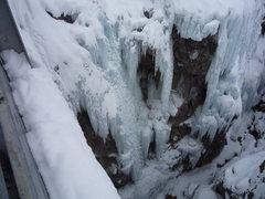 Rock Climbing Photo: The route, Feb., 2010.