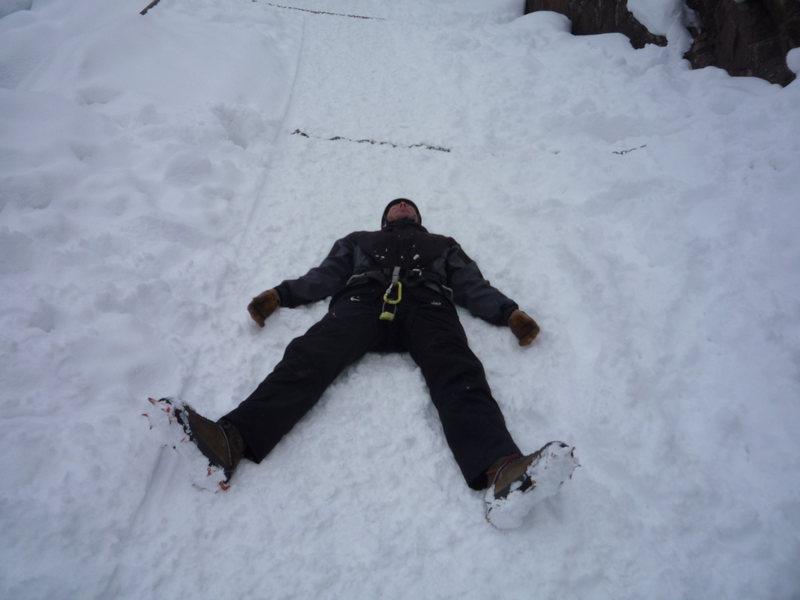 Rock Climbing Photo: He OD'd on ice.