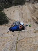 Rock Climbing Photo: An Aussie tackling the last overhang on the second...