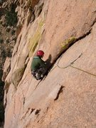 Rock Climbing Photo: Zeke following the sting in the tail of the third ...