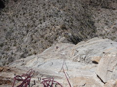Rock Climbing Photo: Coming up the 2nd and 3rd pitches, just after Vain...